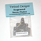 Twisted Designs Engraved Aluminum Servo Plates (1 Pair)