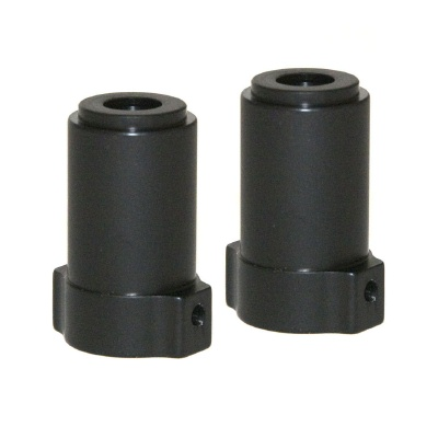  RCP AX10 SCX10 black anodized straight axle adaptors (1 pair)