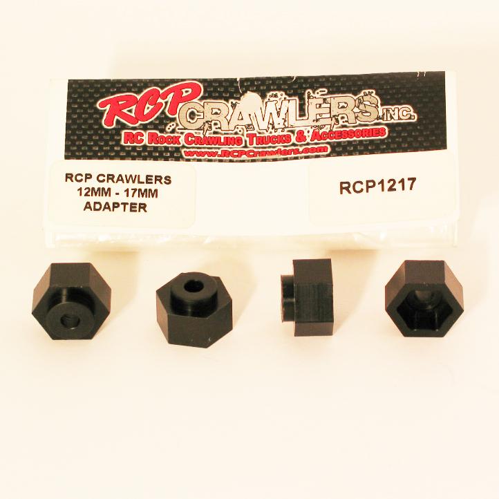 RCP Crawlers  12mm ~ 17mm Wheel Adaptor (4)
