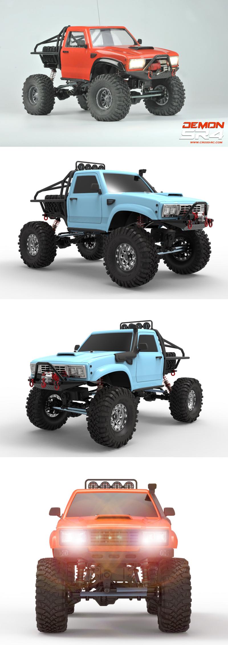 SR4C Demon 4x4 Crawler Kit, w/ LEXAN Body 1/10 Scale