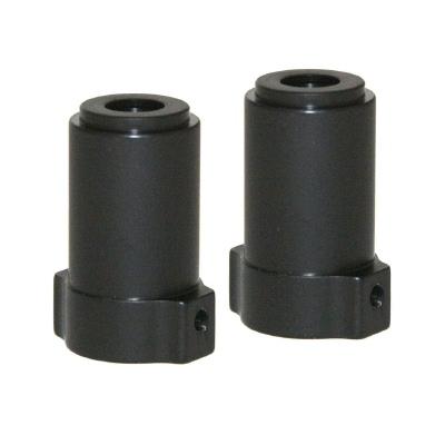 RCP AX10 SCX10 black anodized straight axle adaptors (1 pair)