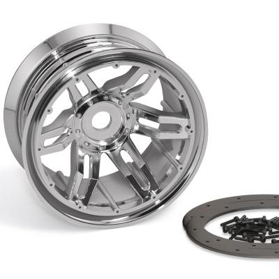 Axial Racing 40 Series Narrow Beadlocks Chrome  (2)