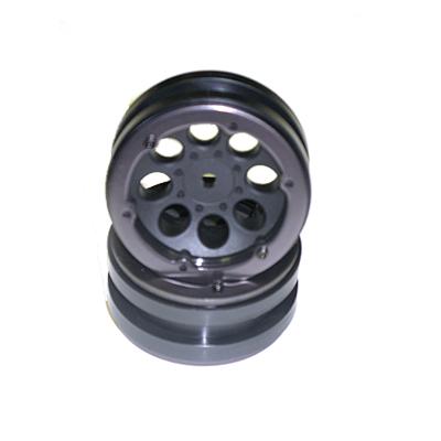 Axial 1.9 8 Hole Beadlocks (Black) (2pcs.)
