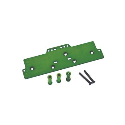 STRC Machined Alum. Adjustable 4 link front servo/battery mount (Green) STA30486G