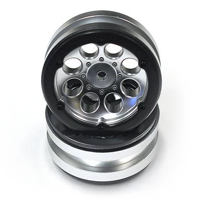 Axial 1.9 8 Hole Beadlocks (Satin Chrome) (2pcs.)