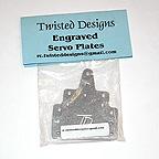 Twisted Designs Engraved Aluminum Servo Plates (1 Pair)